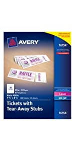 Avery Tickets with Tear-Away Stubs
