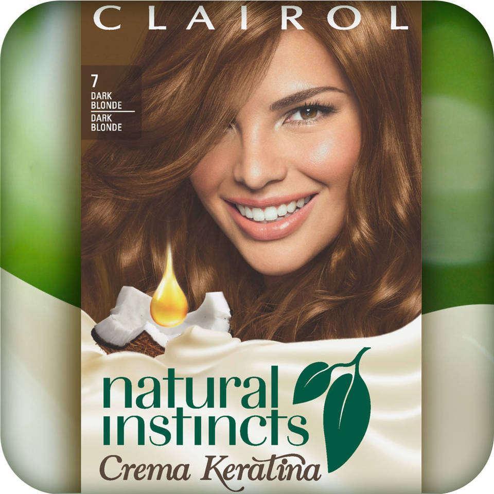 Clairol Natural Instincts Crema Keratina Hair Color Kit, Dark Blonde 7