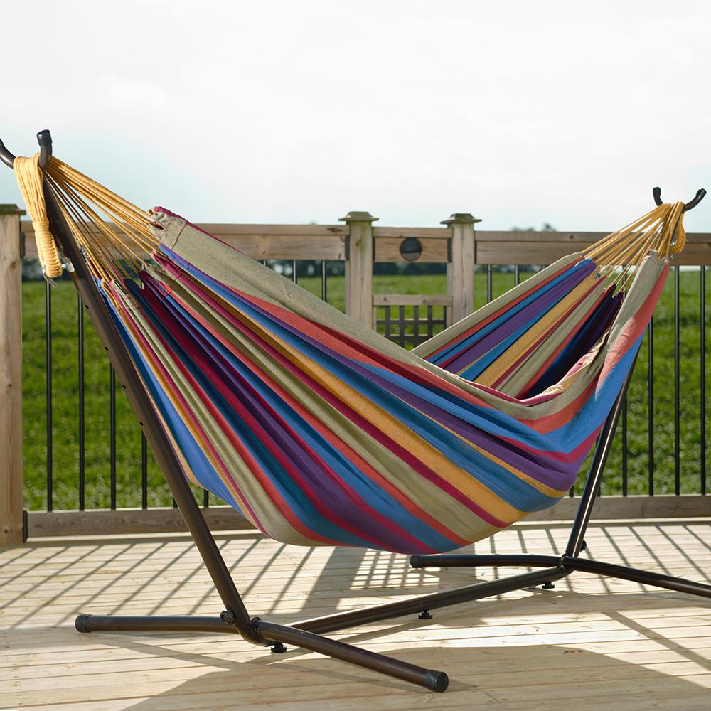 Amazon Com Vivere Double Hammock With Space Saving Steel