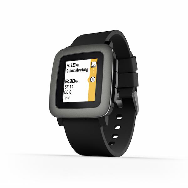 pebble Time Smartwatch Black