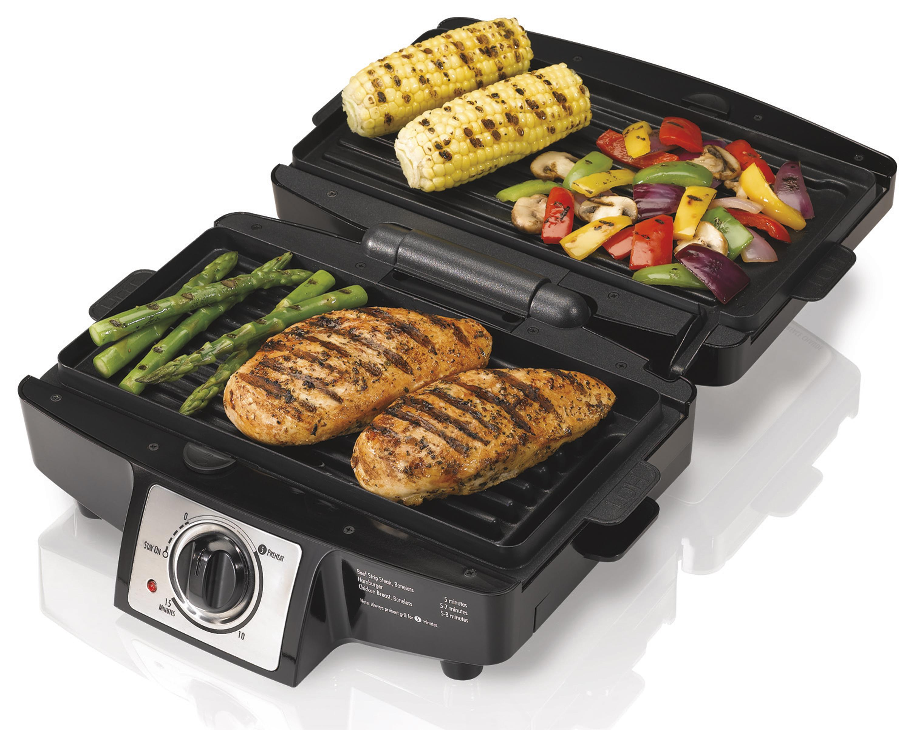 Amazon.com: Hamilton Beach 25332 Easy-Clean Indoor Grill: Electric