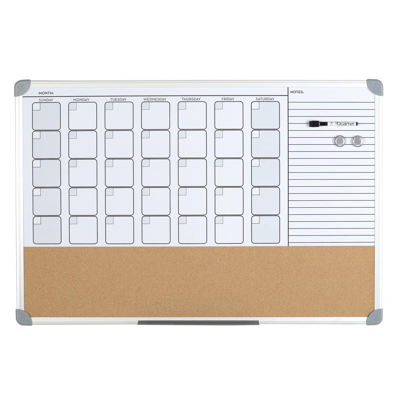 Dry Erase Calendar And Cork Board : Amazon quartet dry erase calendar with cork strip