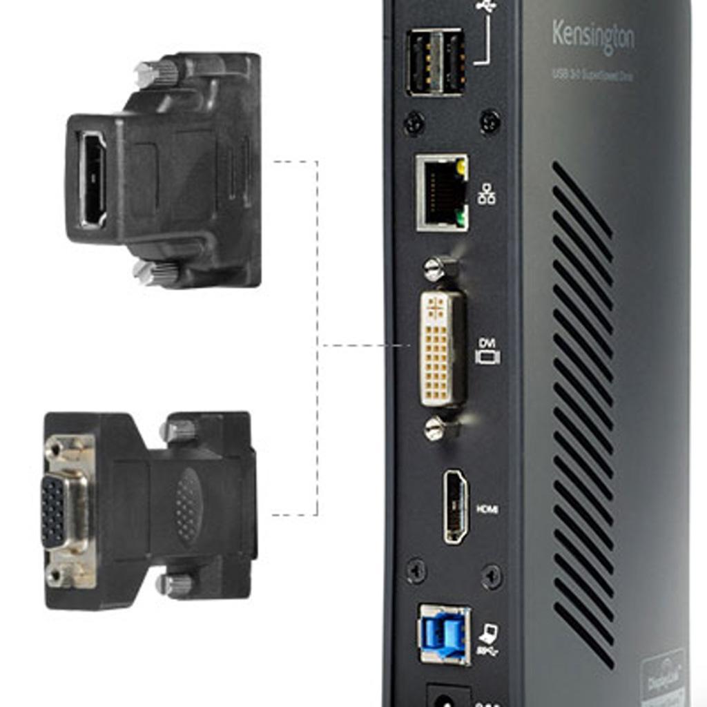 Kensington sd3500v universal usb 3 0 dual display docking station k33972us - Two hdmi monitors one port ...
