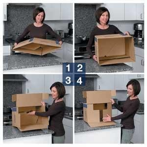 bankers box smoothmove prime moving boxes tape free and fast fold assembly small. Black Bedroom Furniture Sets. Home Design Ideas