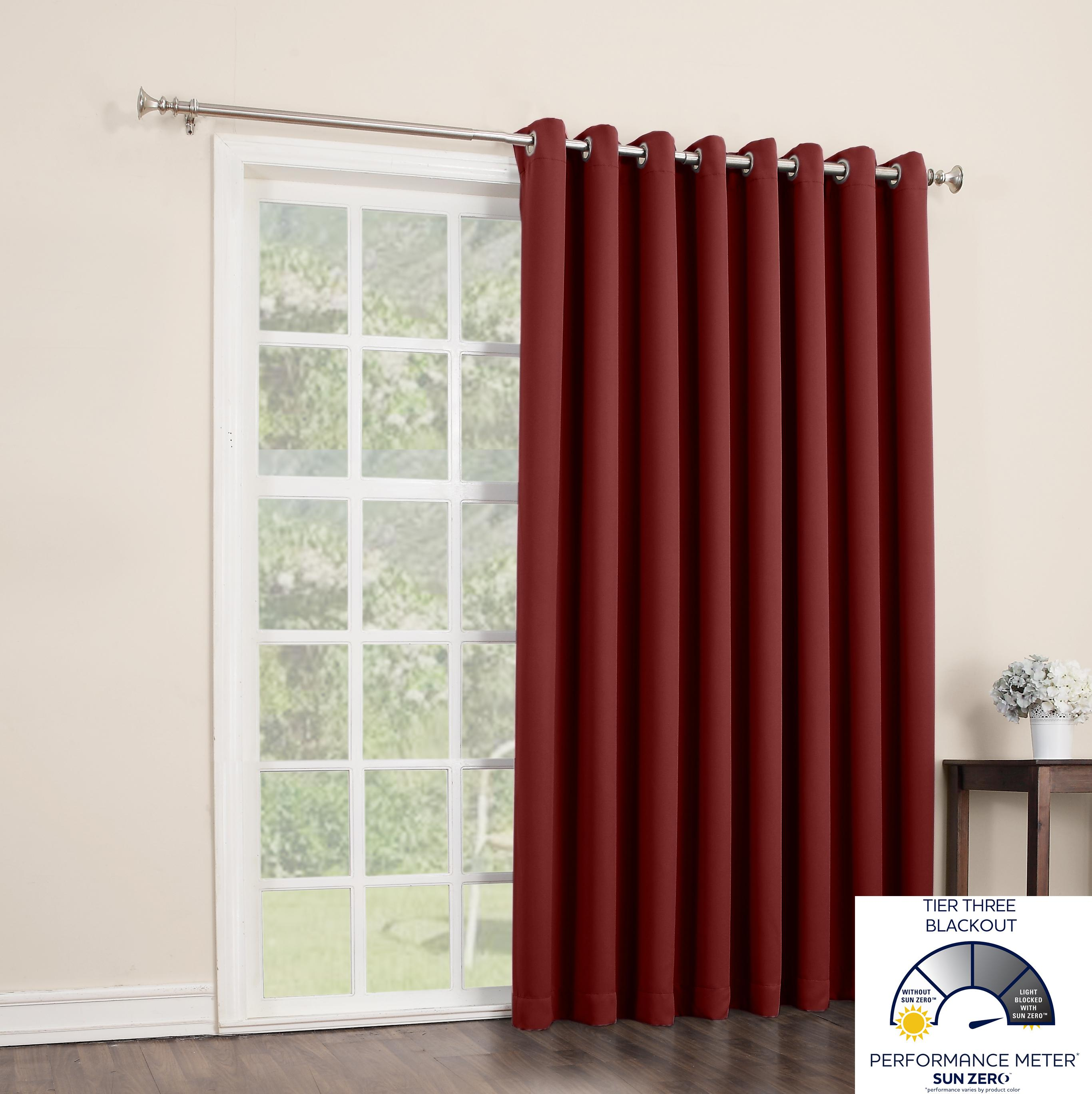 Sun Zero Easton Extra Wide Blackout Patio Curtain Panel