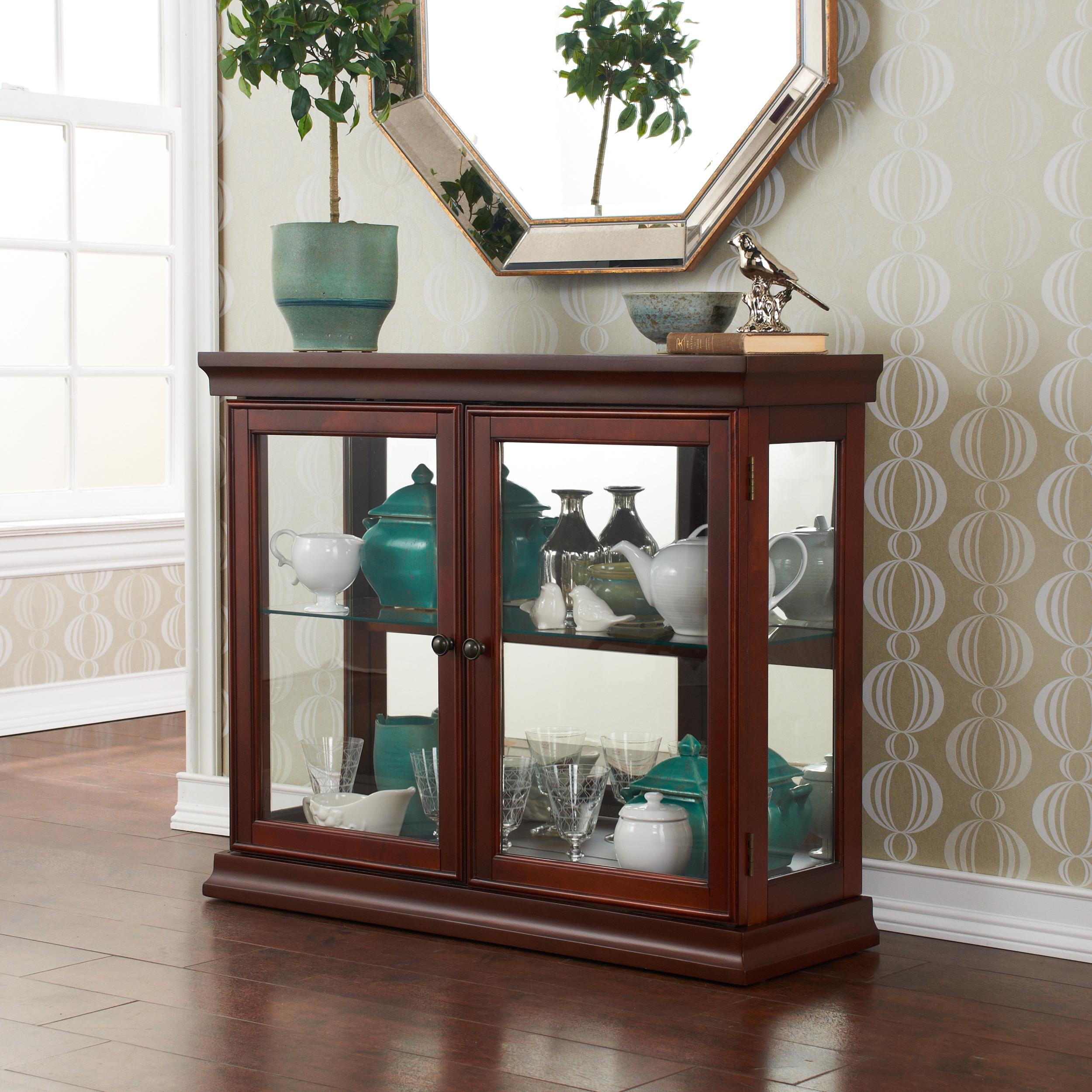 #376961 Amazon.com SEI Mahogany Curio Cabinet With Double  with 2500x2500 px of Highly Rated Glass Display Cabinets For Living Room In India 25002500 picture/photo @ avoidforclosure.info
