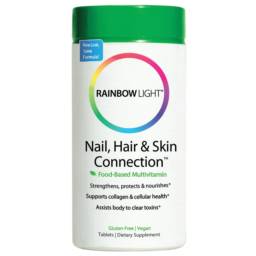 Amazon.com: Rainbow Light Nail, Hair and Skin Connection Food-Based ...