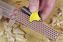 For Woodworking Double Sided Diafold Sharpener can sharpen draw knife, adze, router bit and more