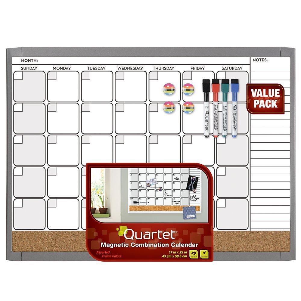 Dry Erase Calendar Boards : Quartet dry erase board whiteboard