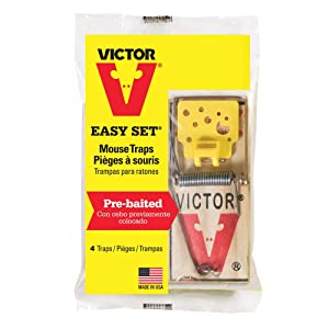 Victor Easy Set Mouse Trap - 4 Pack