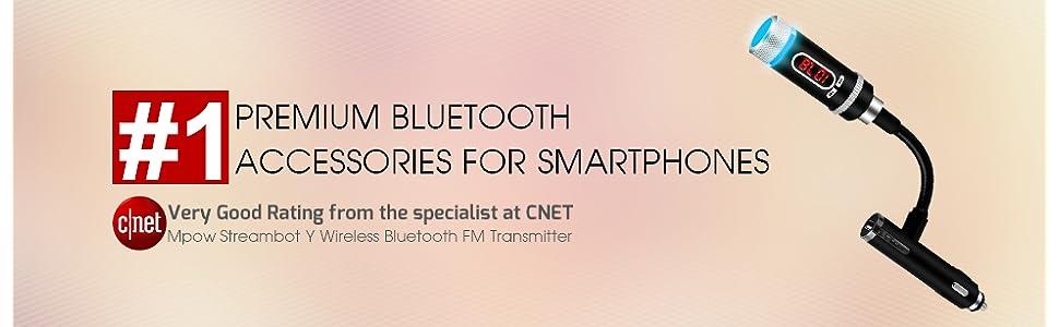 Mpow Streambot Y Wireless Bluetooth FM Transmitter
