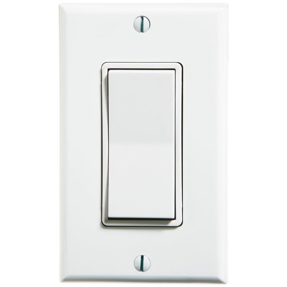 Wall Light Switches Us : Leviton WSS0S-D0W 1-Gang Single Rocker Decora Switch, White - Wall Light Switches - Amazon.com