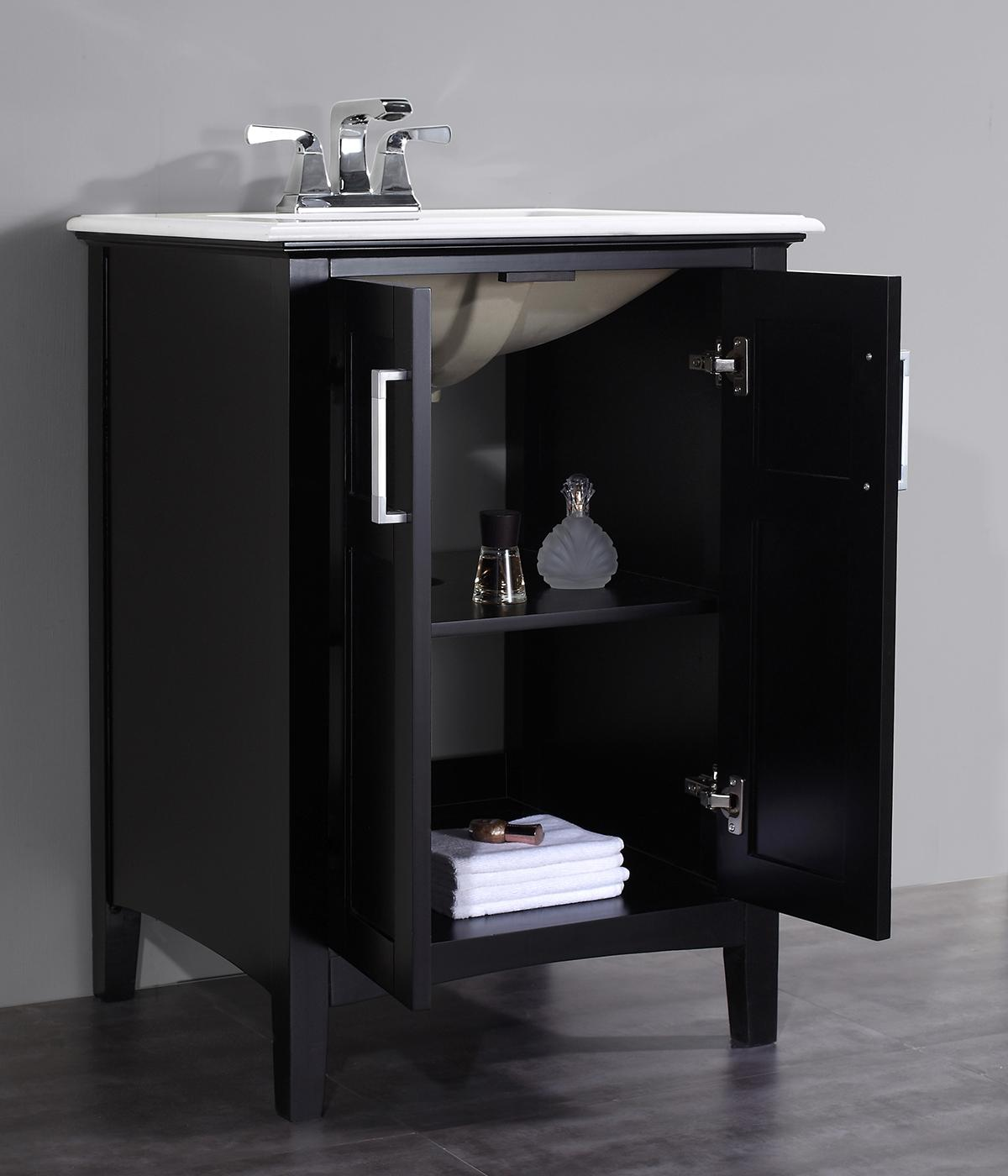 "Simpli Home Winston 24"" Bath Vanity Black Amazon"