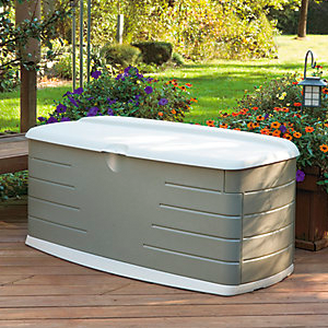 Amazon Com Rubbermaid 5f22 Large Deck Box With Seat