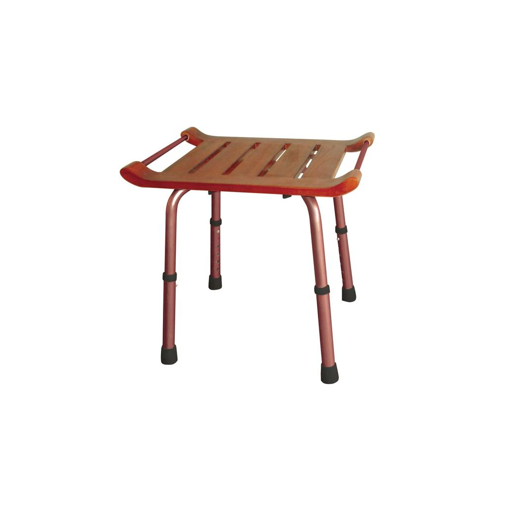 Wonderful image of  Adjustable Height Teak Bath Bench Stool Teak: Health & Personal Care with #A73024 color and 1024x1024 pixels