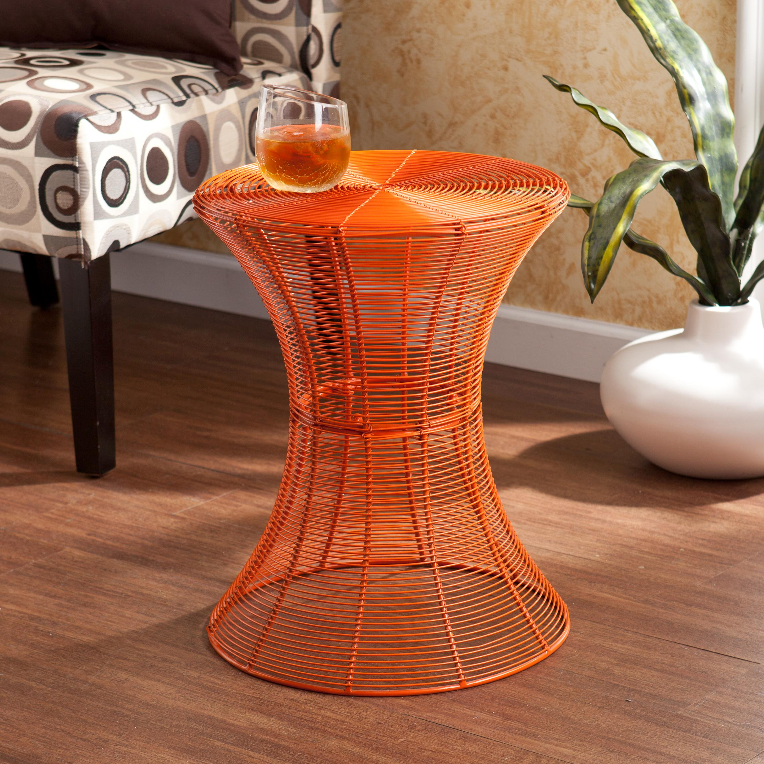 View larger for Orange outdoor side table