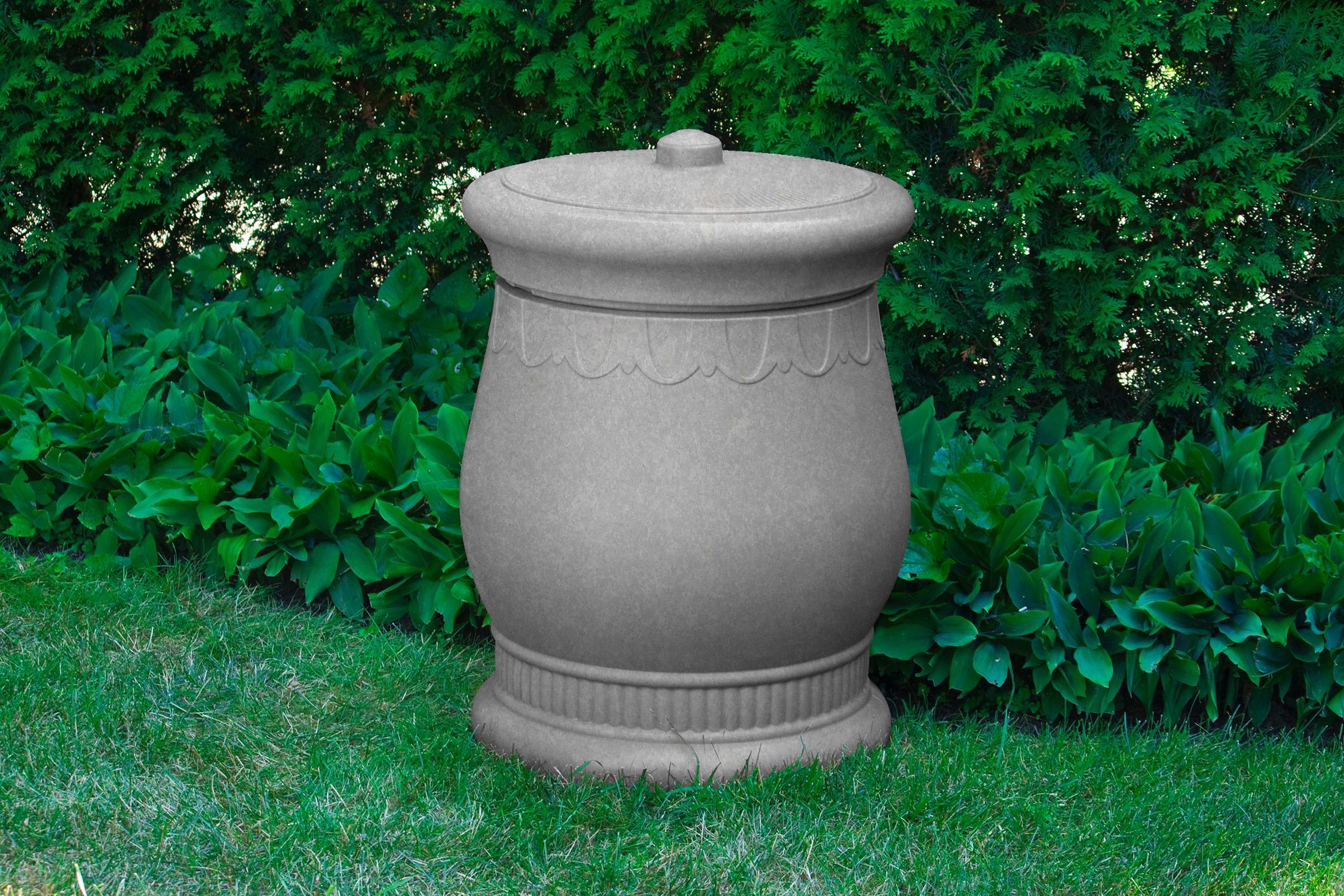 Good ideas sv urn lig savannah storage urn light granite deck boxes patio - Garden waste containers ...