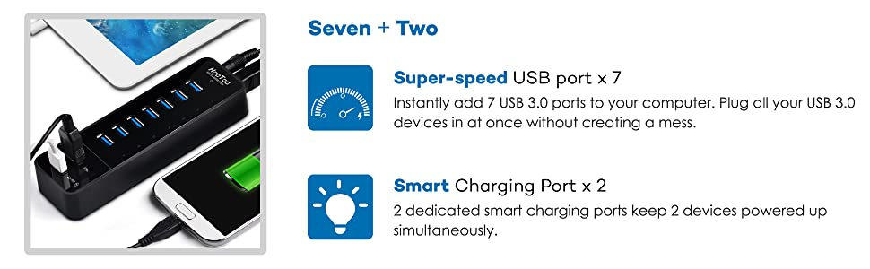 usb 3.0 hub charging, usb hub, usb 3.0 hub 7 port, usb hub charger