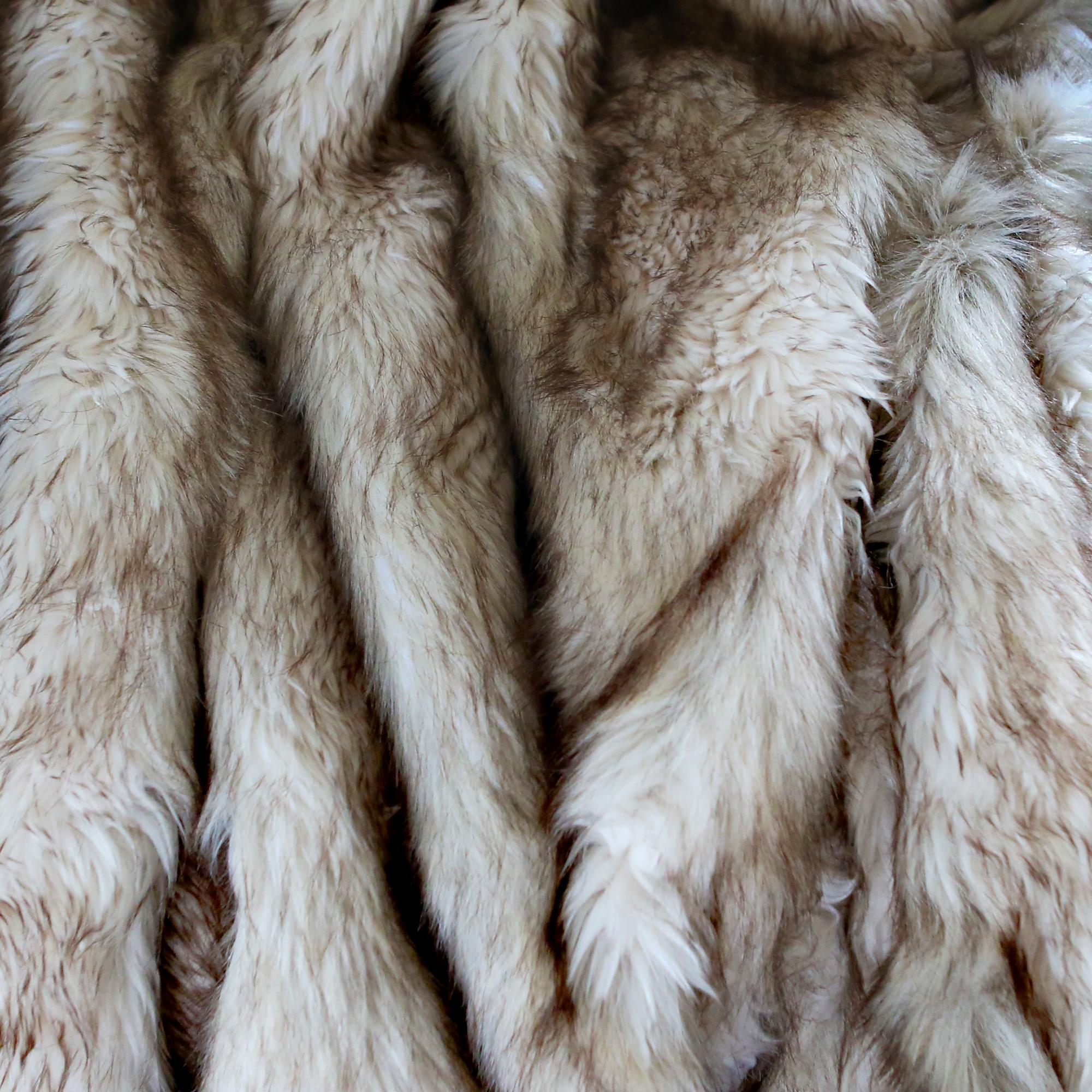 Best Home Fashion Amber Fox Faux Fur Full