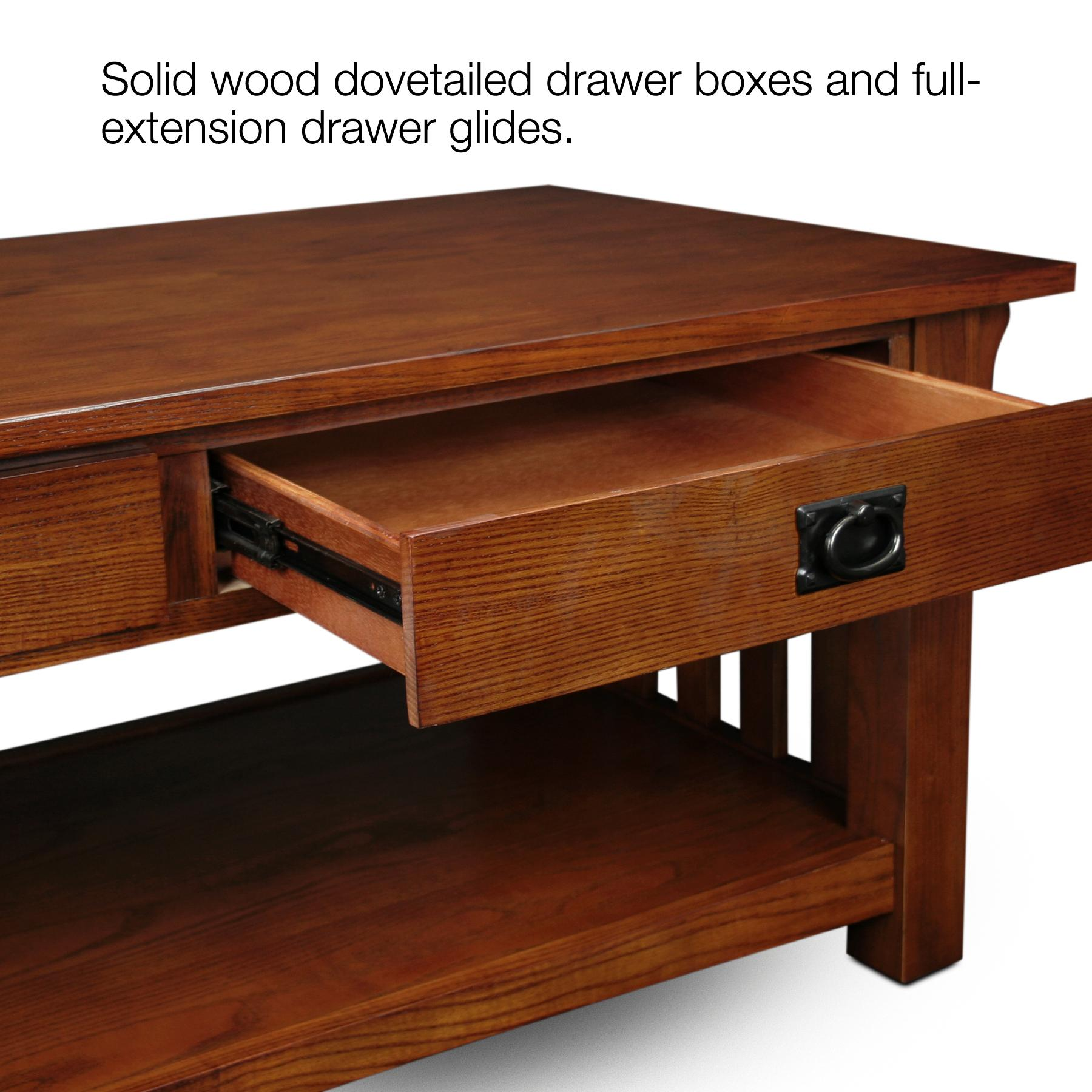 Mission 2 Drawer Coffee Table Medium Oak Shaker Style Coffee Table