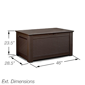 Rubbermaid Patio Chic Plastic Storage Bench
