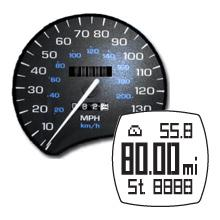odometer lap counter distance travel traveled run walk jog map route run