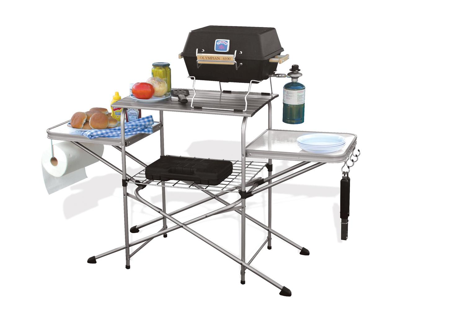 Deluxe Grilling Table Portable Outdoor Camping Bbq Grill
