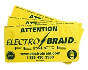 ElectroBraid Fence Warning Sign