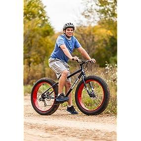 Amazon.com : Mongoose Men's Dolomite Fat Boys Tire Cruiser Bike, Blue