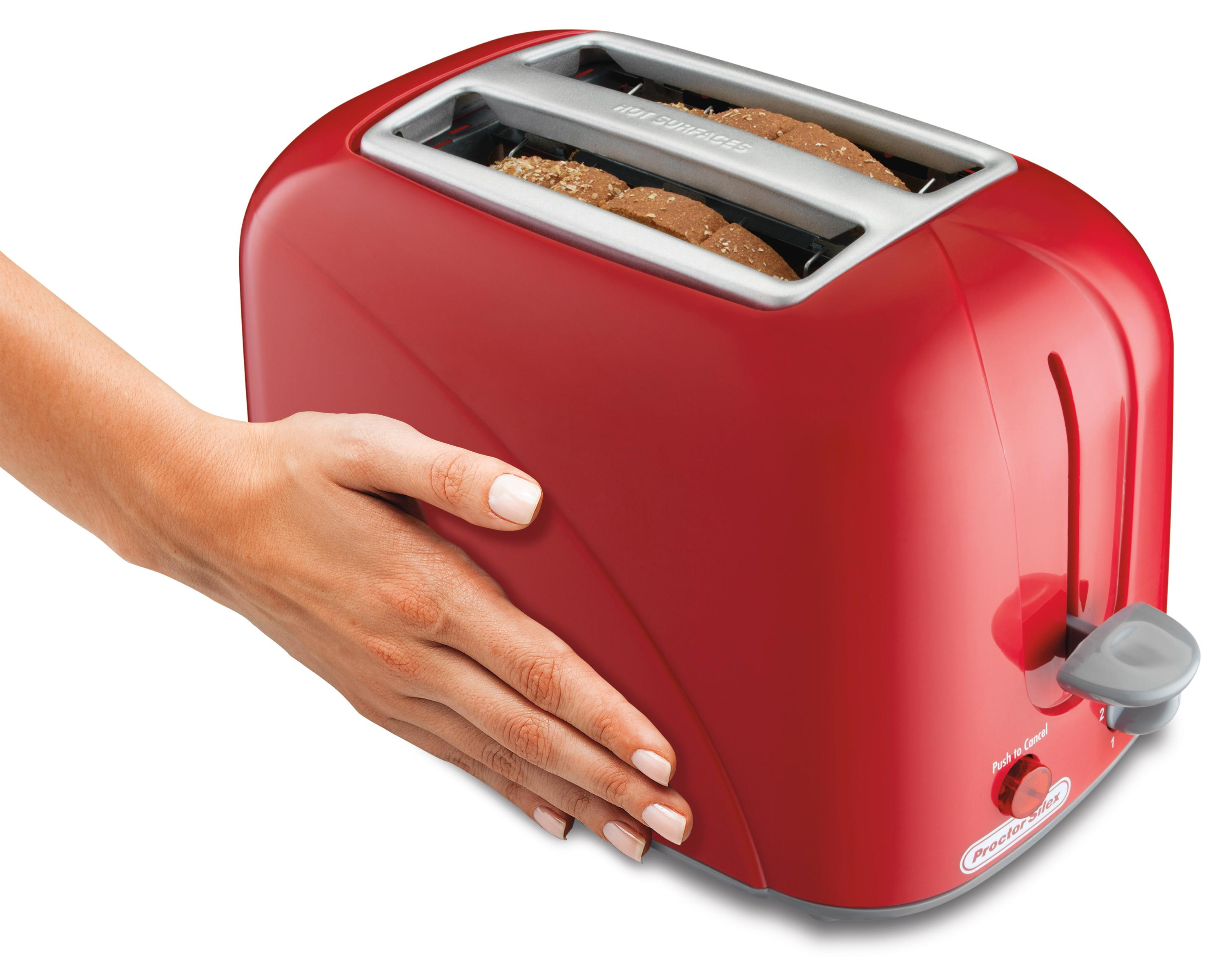 Proctor silex 22204 2 slice toaster red - Cool touch exterior convection toaster oven ...