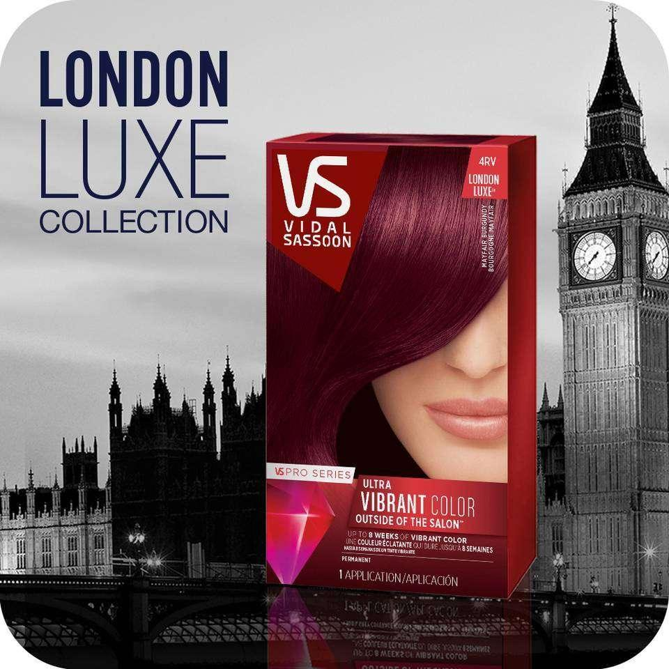Amazon  Vidal Sassoon Pro Series London Luxe Hair Color Kit 4RV Mayfair