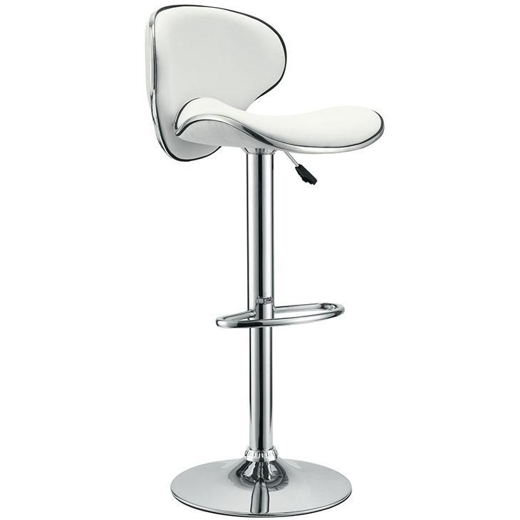 Bar Stool Modern Saddleback Leather Adjustable Footrest