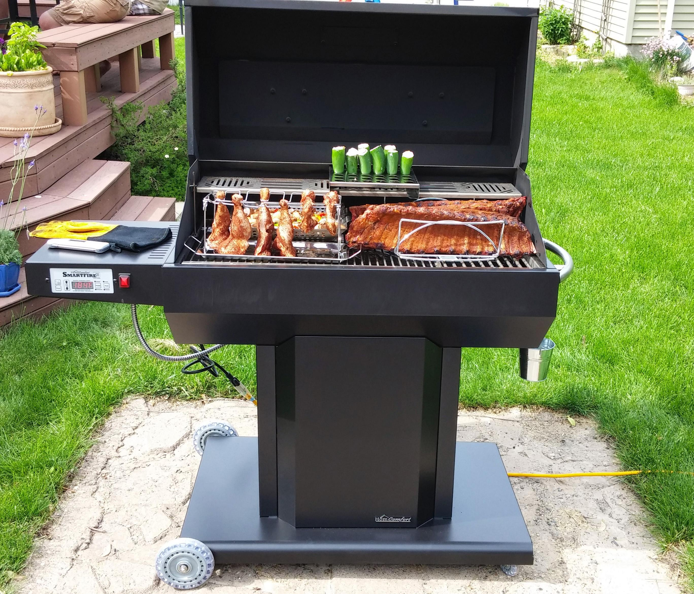 Homcomfort pg36 pellet grill smoker large combination grills and smokers patio - Pellet grills and smokers ...