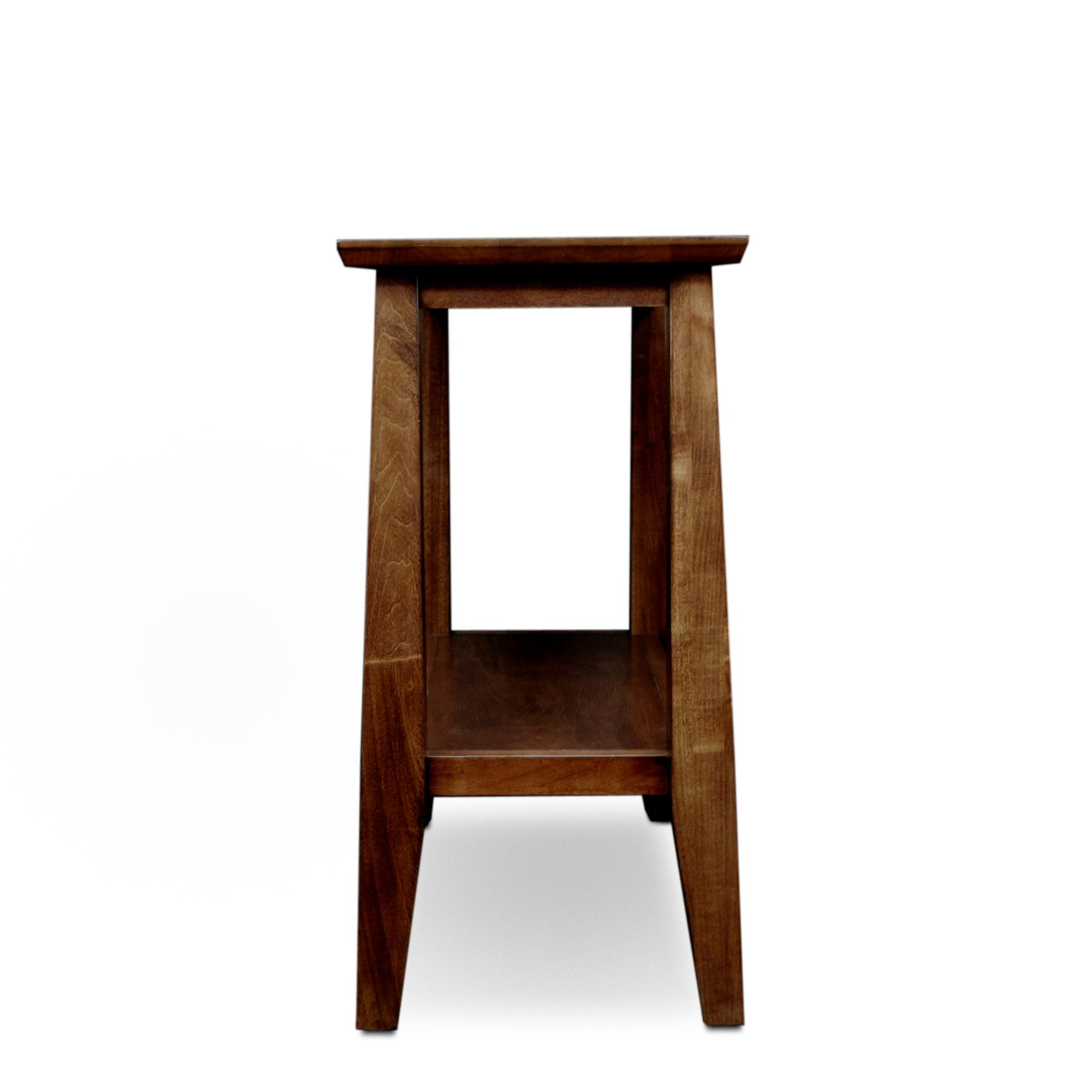 Leick delton narrow chair side end table for Long narrow side table