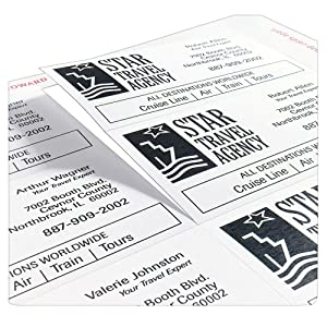 Avery, Clean Edge, business cards, color, graphics, snap apart, smooth, laser, inkjet, True Print