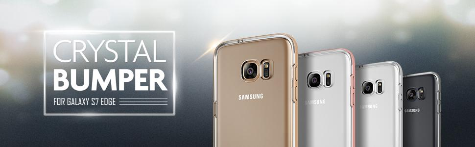 Galaxy S7 Edge Case, VRS Design Crystal Bumper Series
