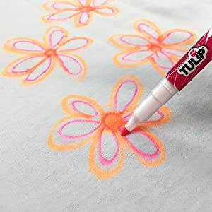 Tulip fabric markers fine tip detail