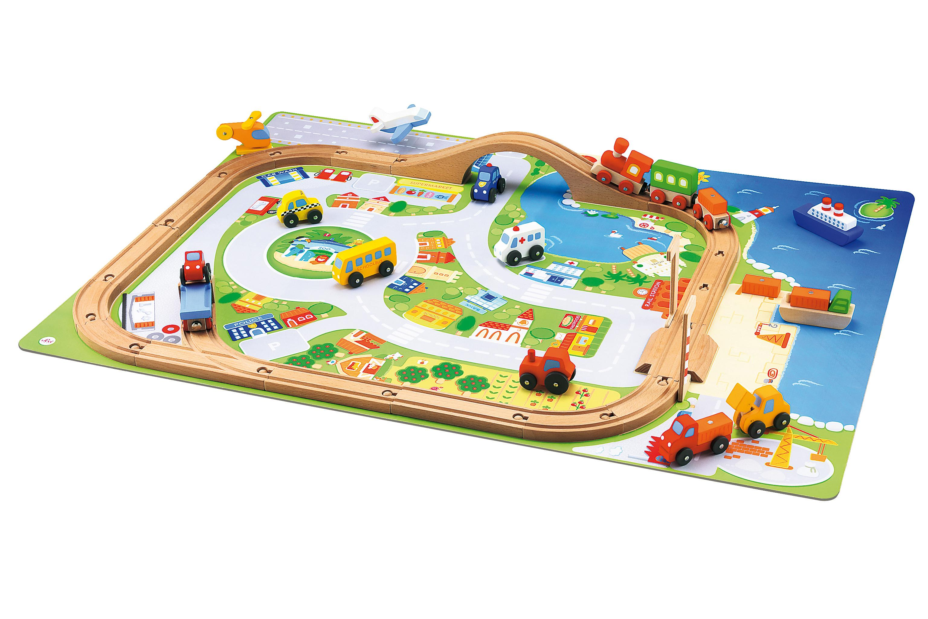 Amazon.com: Sevi Village Train Set: Toys & Games