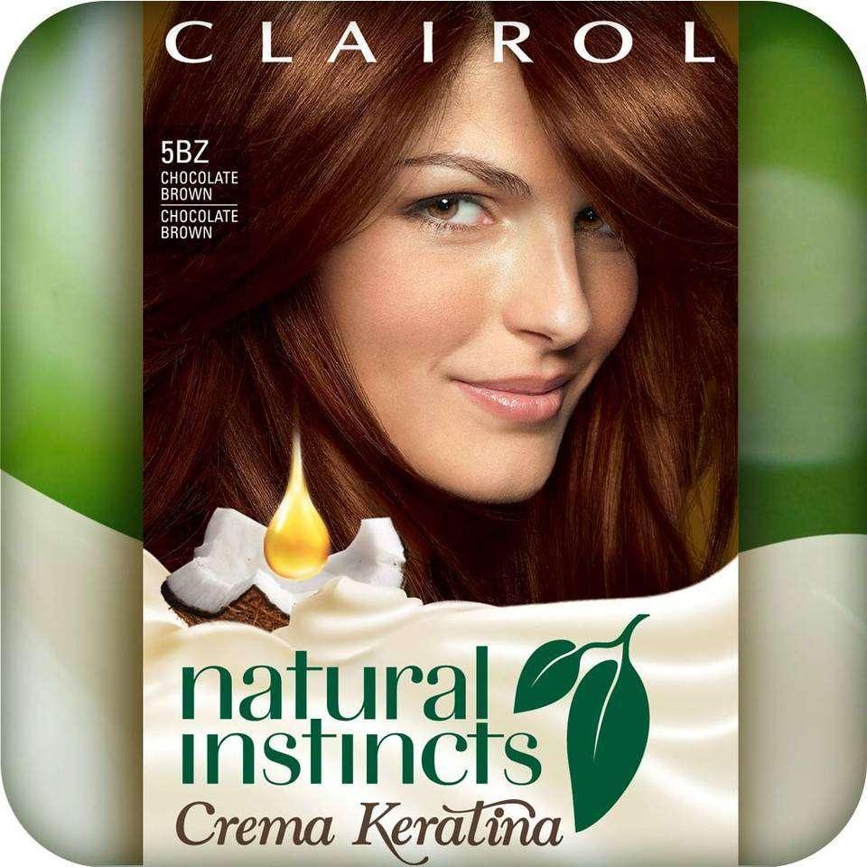 Clairol Natural Instincts Crema Keratina Hair Color Kit, Chocolate