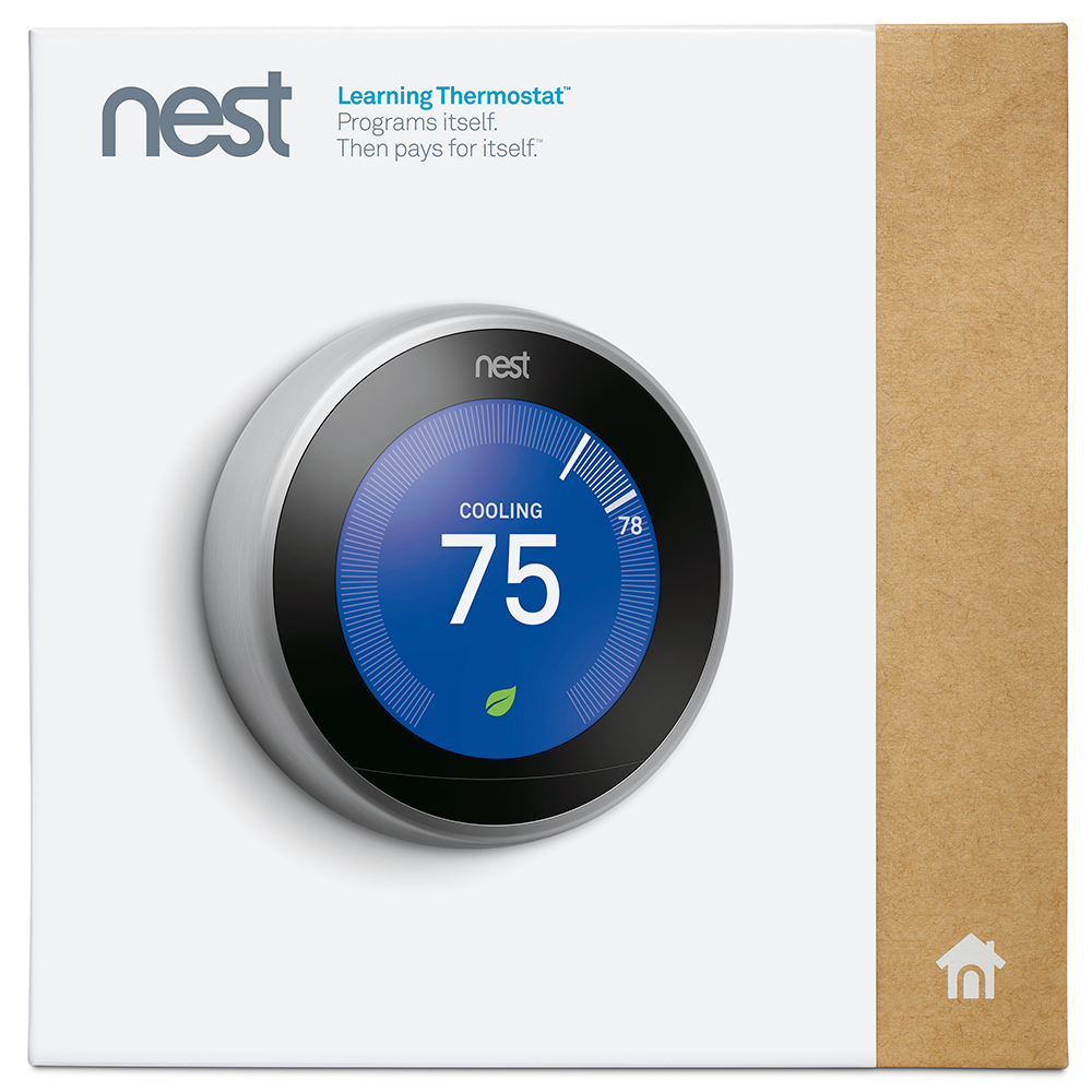 nest learning thermostat 3rd generation works with alexa. Black Bedroom Furniture Sets. Home Design Ideas