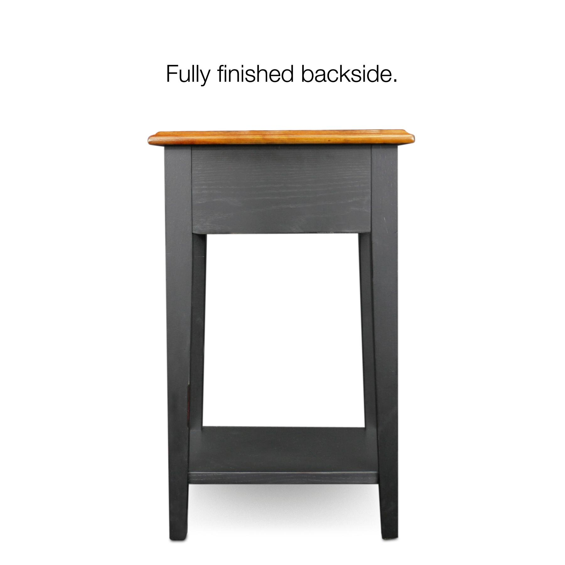 Leick Shaker Square End Table Slate Black Leick Furniture