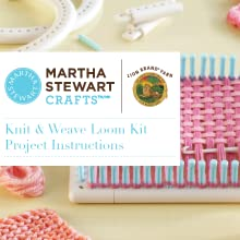 Red Heart Free Patterns Knitting : Amazon.com: Lion Brand Yarn Martha Stewart Crafts Knit and Weave Loom Kit: Ar...