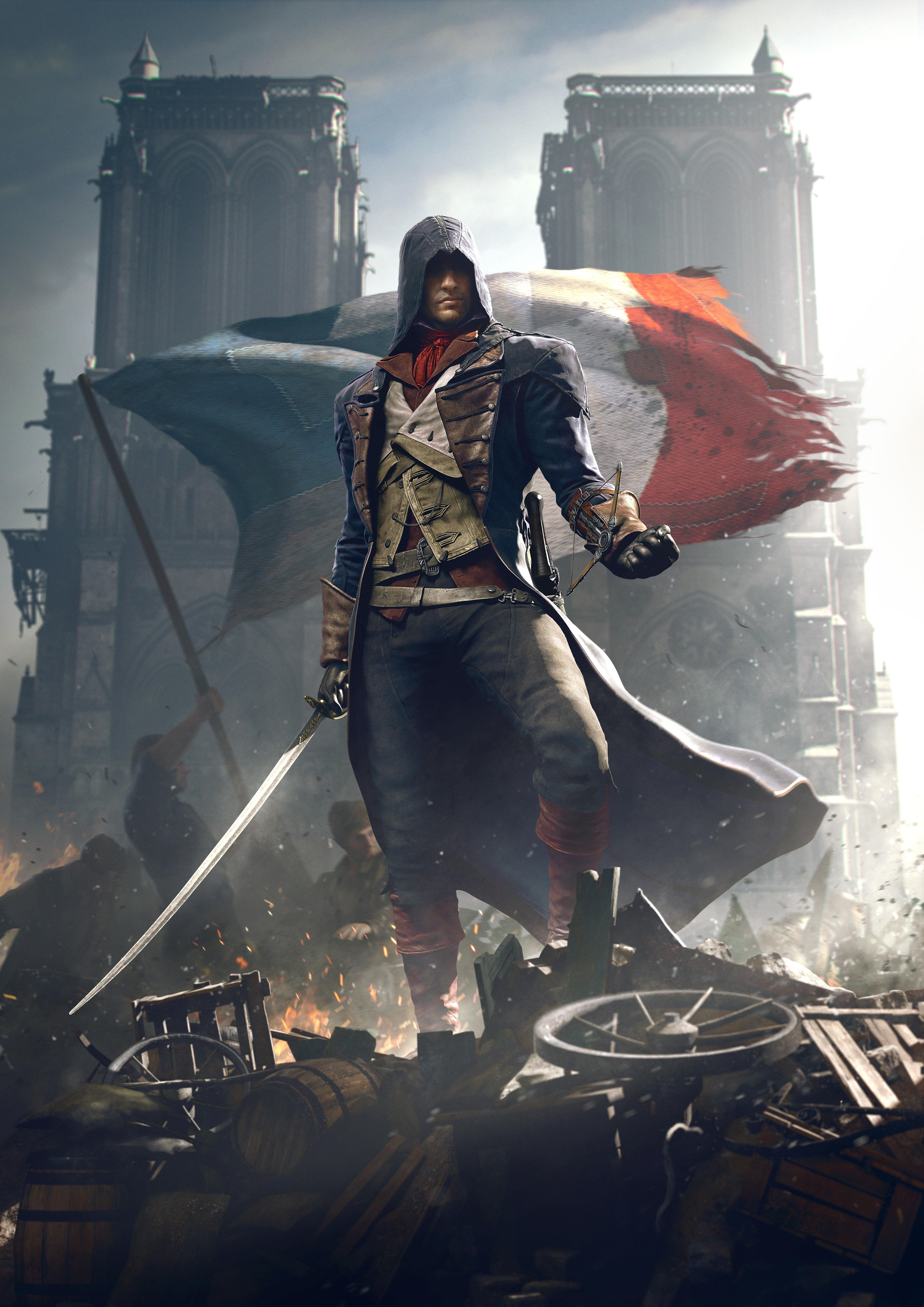 Assassin 39 s creed unity playstation 4 video games for Poster revolution france