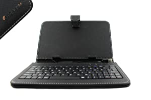 pu leather 7 inch tablet keyboard case stand