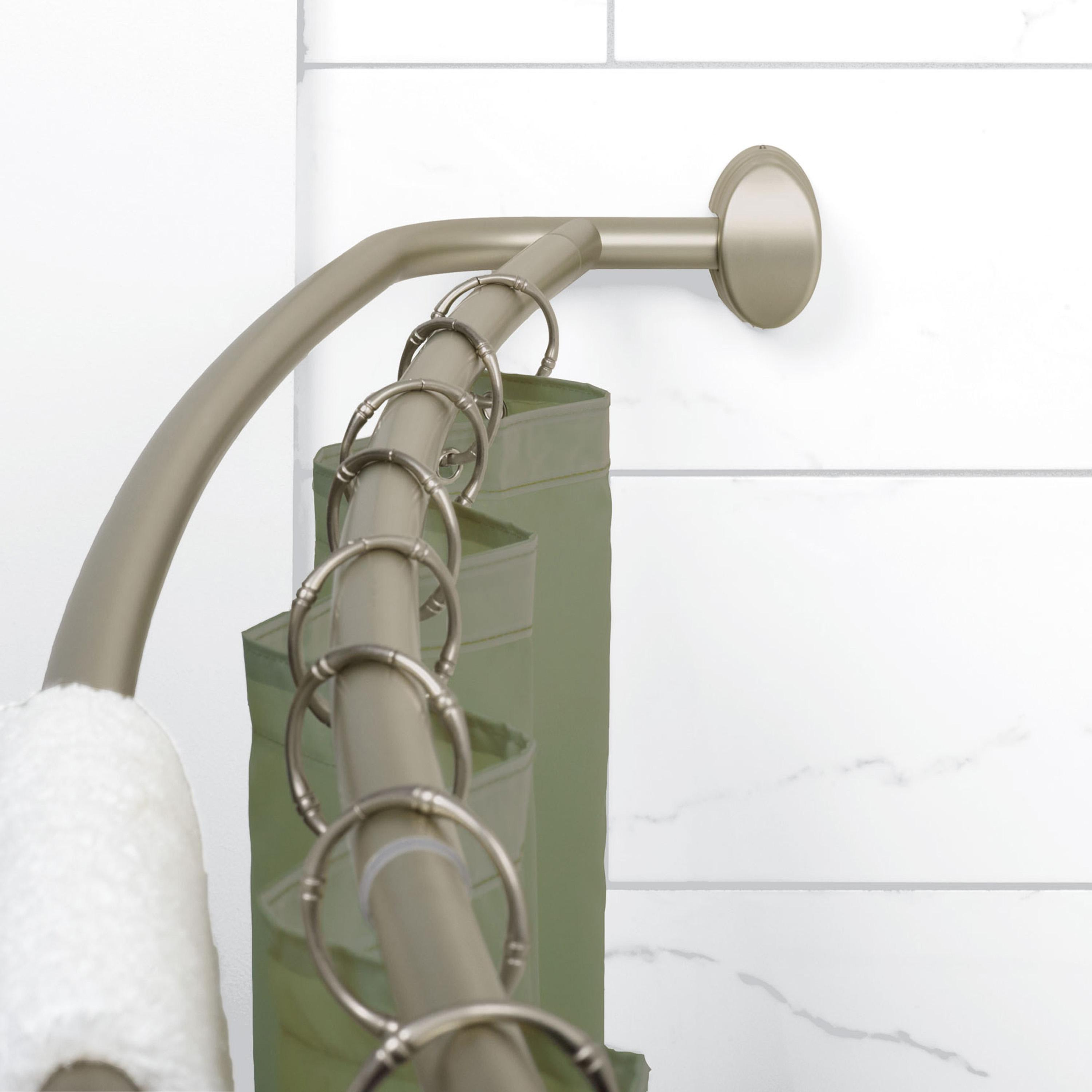... Neverrust Aluminum Double Curved Shower Curtain Rod 45 To | eBay