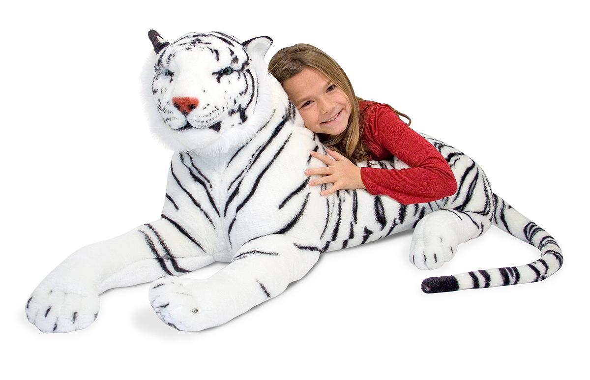 Amazon.com: Melissa & Doug White Tiger Plush: Melissa