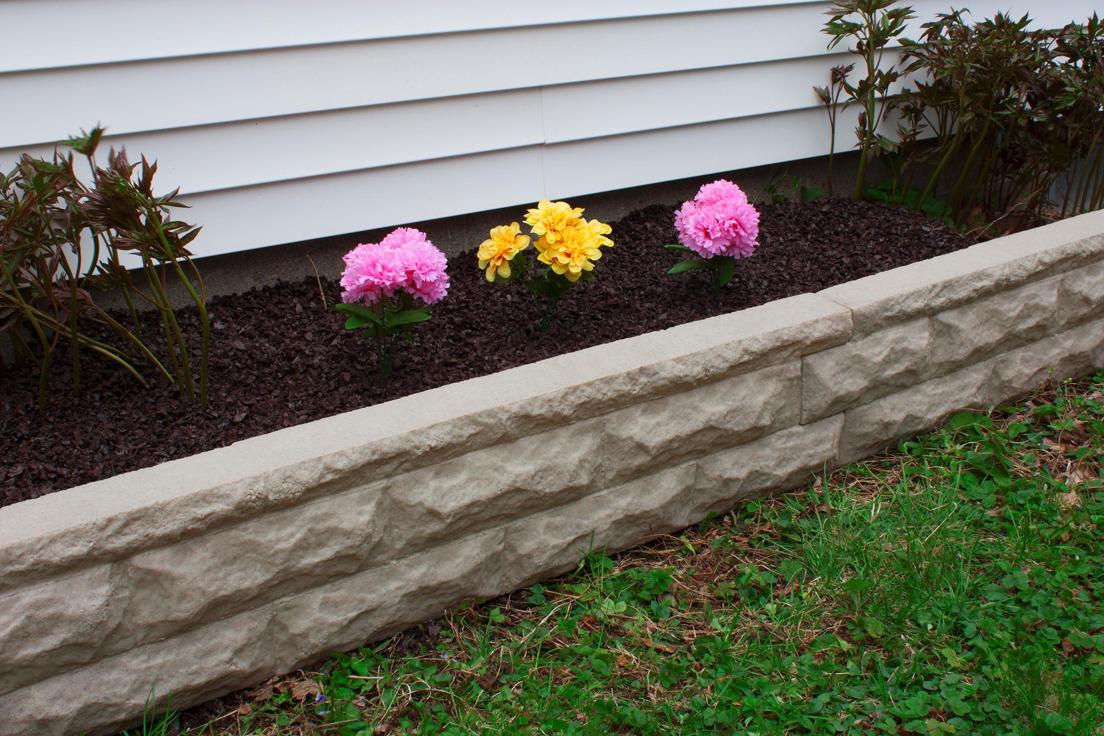 Stone border edging landscape wall brick decorative - Stone edging for garden beds ...