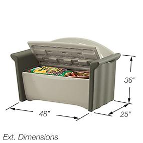 Rubbermaid Patio Storage Bench Dark Platinum 3764 Deck Boxes Patio Lawn Garden