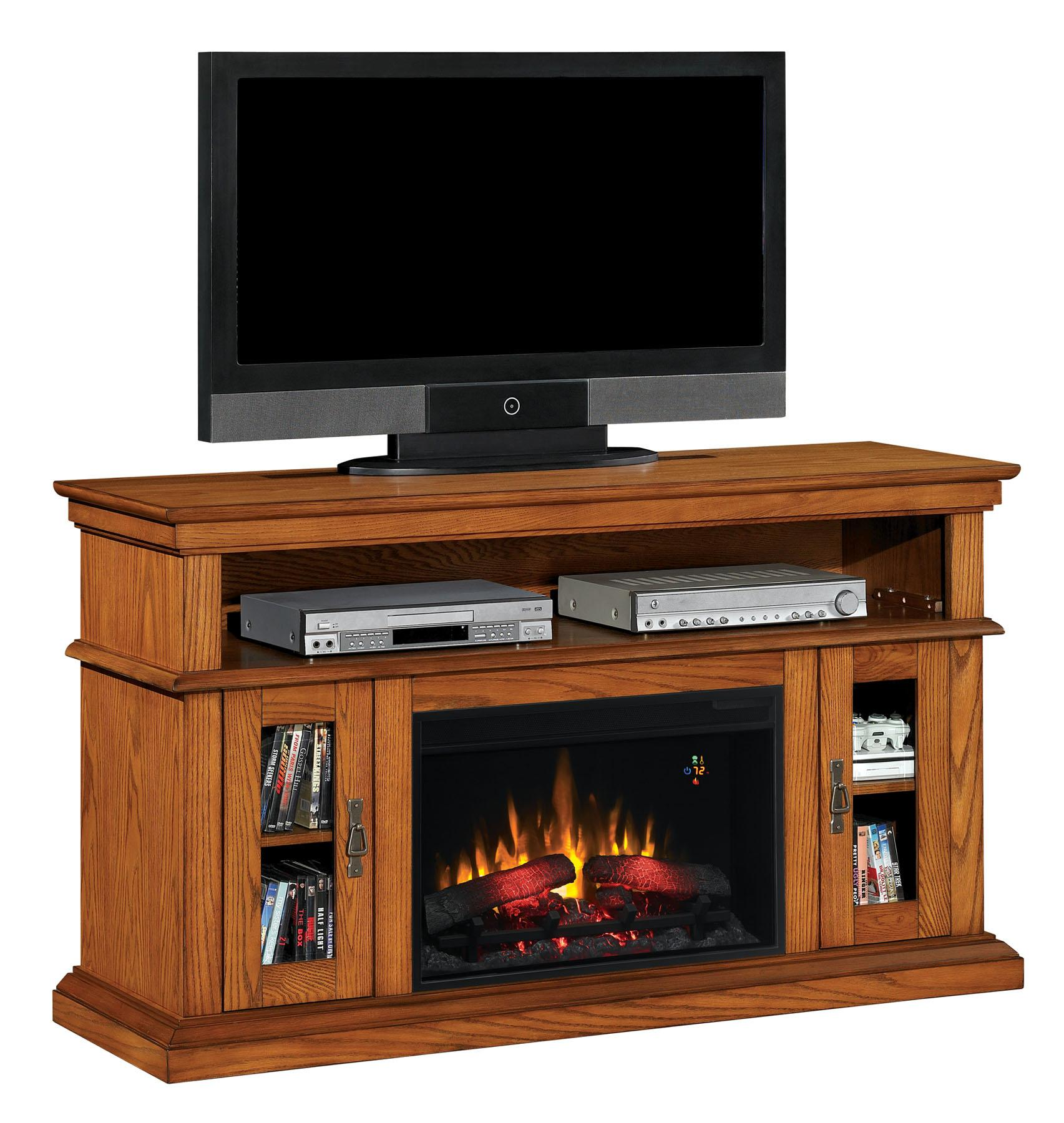 classicflame 26mm2209 o107 brookfield tv stand for tvs up to 65 premium oak. Black Bedroom Furniture Sets. Home Design Ideas
