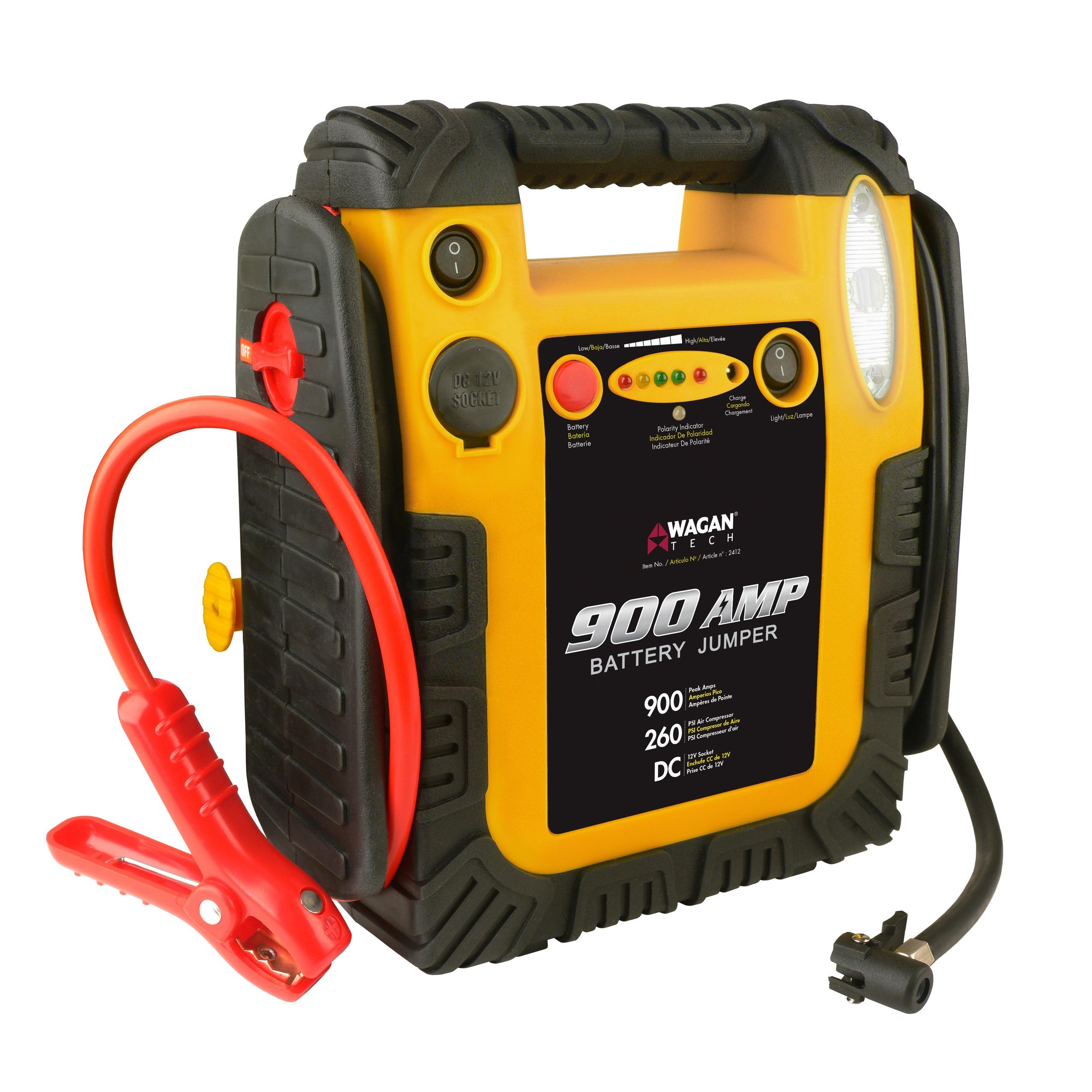 Portable Battery Jump Starter Air Compressor Car Start